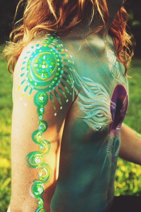 Collab Painting with Elfie Jadeanam & Oshi Mahi | Byron Bay | AUS 2013
